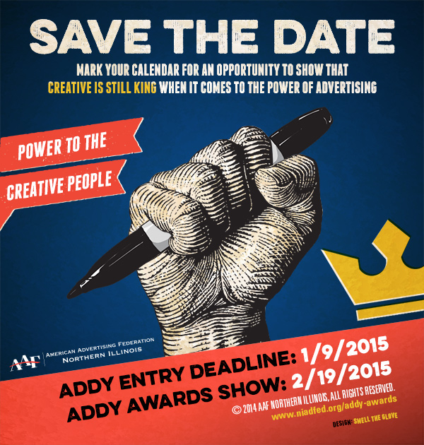 """ADDY Awards Show """"Power to the Creative People"""" @ Prairie Street Brew House - Peacock Room 